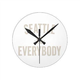 Seattle Vs Everybody Round Clock