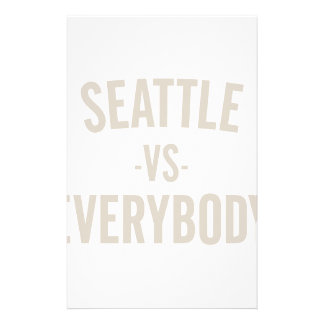 Seattle Vs Everybody Stationery