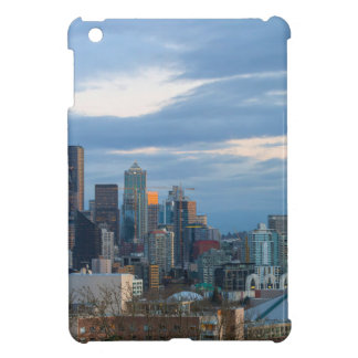Seattle WA City Skyline evening Panorama Cover For The iPad Mini