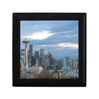 Seattle WA City Skyline evening Panorama Gift Box