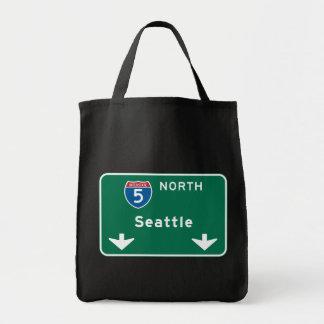 Seattle, WA Road Sign Tote Bag
