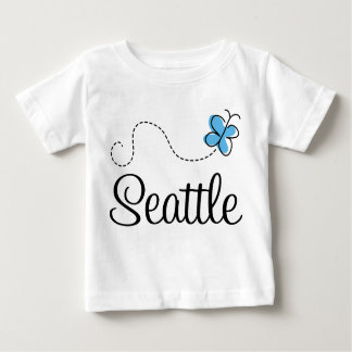 Seattle WA Washington Butterfly Infant Tee Shirt