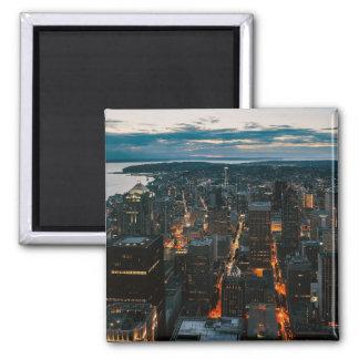Seattle Washington Aerial View Magnet