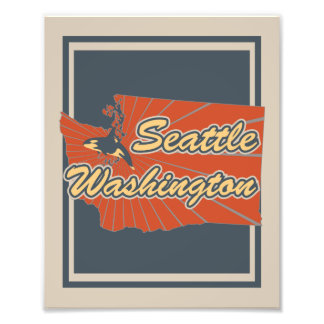 Seattle, Washington Art Print - Travel Artwork Photographic Print