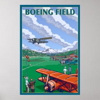 Seattle, Washington - Boeing Field Poster