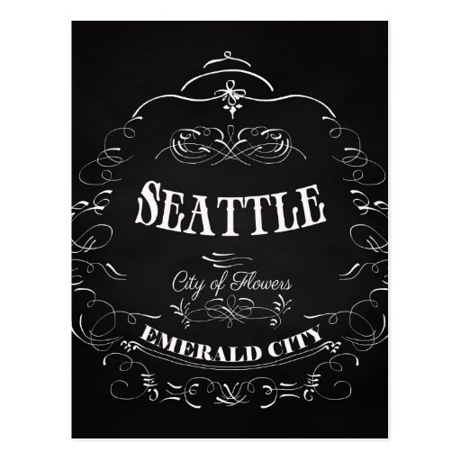 Seattle Washington - City of Flowers Postcards