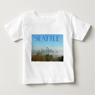 Seattle, Washington Downtown Skyline View Baby T-Shirt