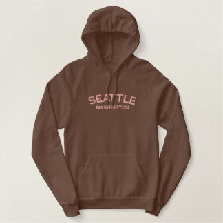 Seattle Washington Embroidered Shirt