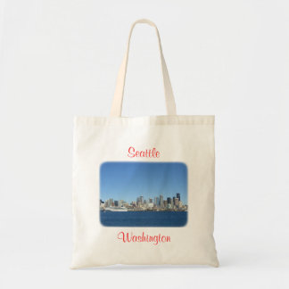 Seattle Washington  Harbor Skyline Budget Totebag Tote Bag