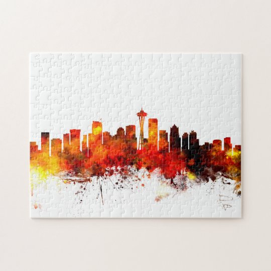 Seattle Washington Skyline Jigsaw Puzzle