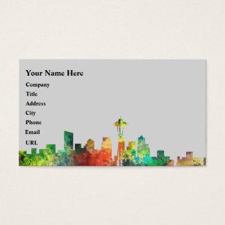 SEATTLE WASHINGTON SKYLINE SP - BUSINESS CARD