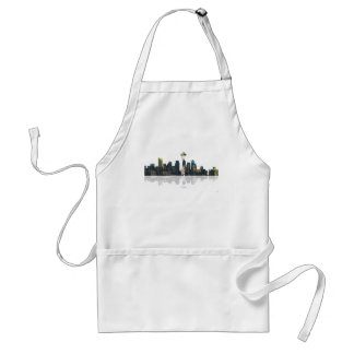 Seattle Washington Skyline Standard Apron