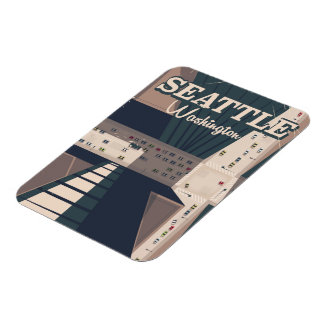 Seattle, Washington state Travel poster Magnet
