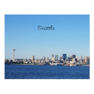 Seattle Washington View of the City From the Water Postcard