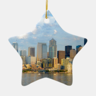 Seattle Waterfront Ceramic Ornament
