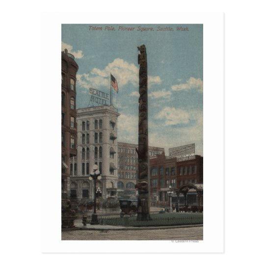 Seattle, WATotem Pole at Pioneer Square Postcard