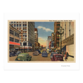 Seattle, WAView of 3rd Ave. & Pike St. Postcard