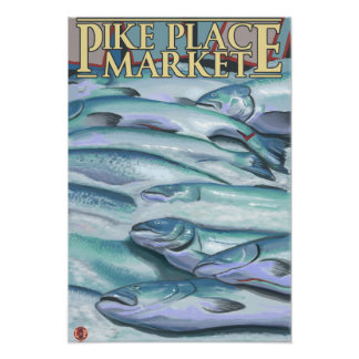 SeattleFish on Ice at Pike Place Market Poster
