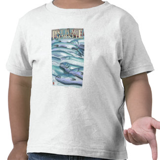 SeattleFish on Ice at Pike Place Market T-shirts