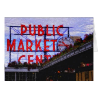 Seattle's Pike Place Market Note Card