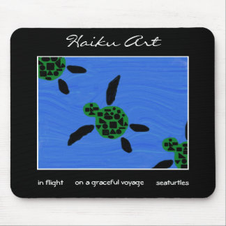 Seaturtles Haiku Art Mousepad