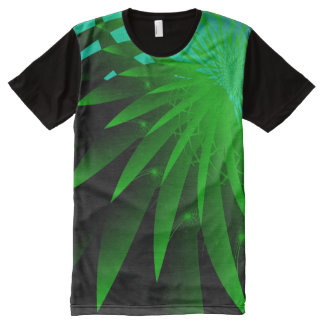 Seaweed 3 Psychedelic Abstract Fine Fractal All-Over-Print T-Shirt