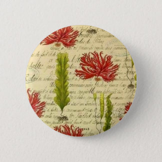 Seaweed and chorales 2 inch round button