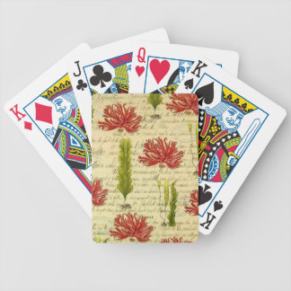 Seaweed and chorales bicycle playing cards