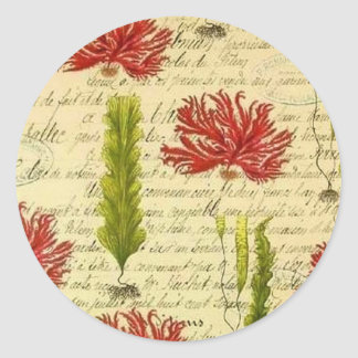 Seaweed and chorales classic round sticker