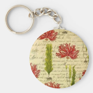 Seaweed and chorales keychain
