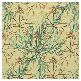 Seaweed Aquatic Pattern Fabric