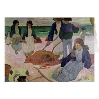 Seaweed Gatherers, 1889 Card