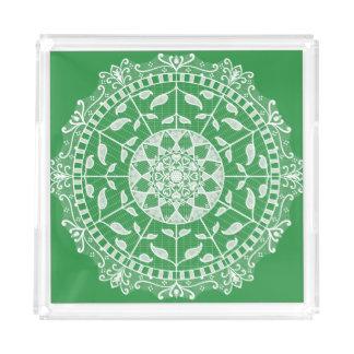 Seaweed Mandala Acrylic Tray