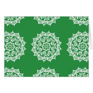 Seaweed Mandala Card