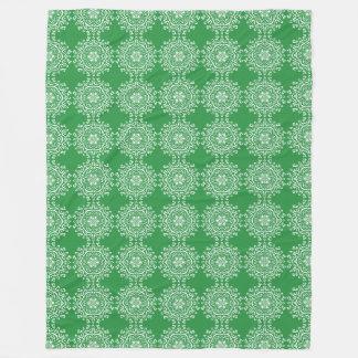 Seaweed Mandala Fleece Blanket