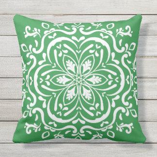 Seaweed Mandala Outdoor Pillow