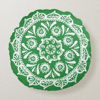 Seaweed Mandala Round Pillow