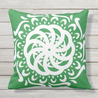 Seaweed Mandala Throw Pillow