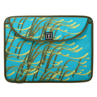 Seaweed on aqua sleeves for MacBook pro