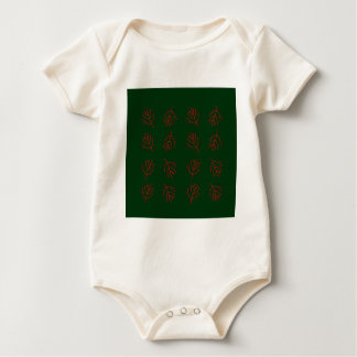 Seaweeds green baby bodysuit