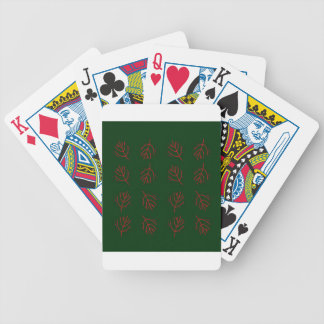 Seaweeds green bicycle playing cards