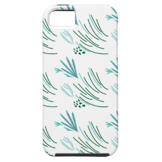 Seaweeds green on white iPhone 5 case