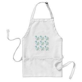 Seaweeds green on white standard apron