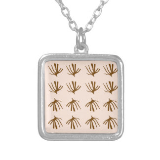 SEAWEEDS  Retro beige Silver Plated Necklace