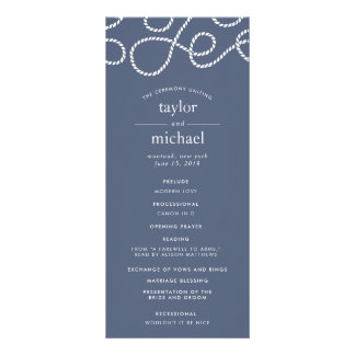 Seaworthy Wedding Ceremony Program | Slate