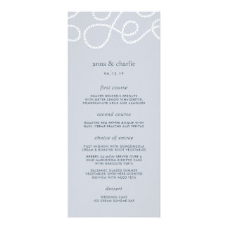 Seaworthy Wedding Menu Card   Fog