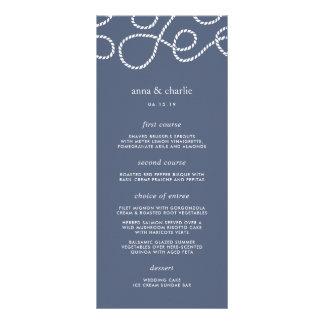Seaworthy Wedding Menu Card | Slate