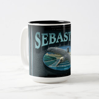 Sebastian, FL Two-Tone Coffee Mug