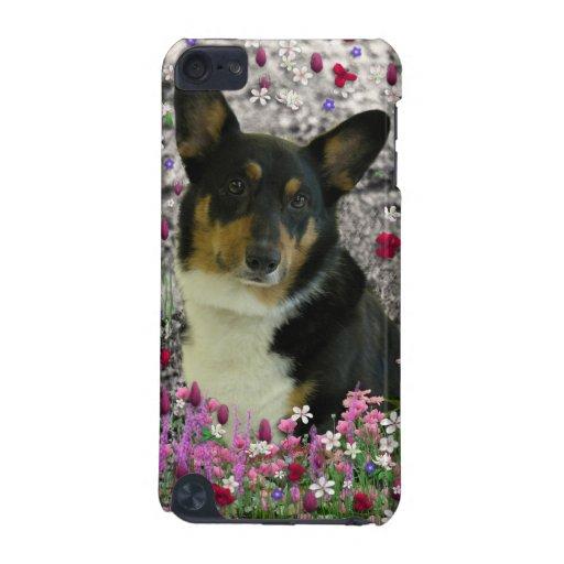 Sebastian the Welsh Corgi in Flowers iPod Touch 5G Cases
