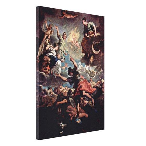 Sebastiano Ricci - Allegory of Tuscany Canvas Prints